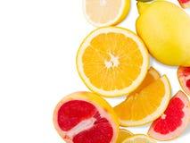 Primo piano della frutta tropicale su fondo isolato bianco Fotografia Stock