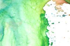 Primo piano della gamma di colori dell'acquerello dell'artista Fotografia Stock Libera da Diritti