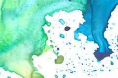 Primo piano della gamma di colori dell'acquerello dell'artista Fotografia Stock