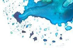 Primo piano della gamma di colori dell'acquerello dell'artista Fotografie Stock