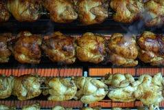 Primo piano della griglia del pollo Fotografie Stock