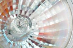 Primo piano della lampadina dell'alogeno fotografia stock libera da diritti