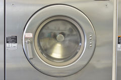 Washday che lava la porta di Machiine chiusa Fotografie Stock