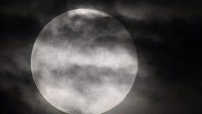 Primo piano della luna piena archivi video