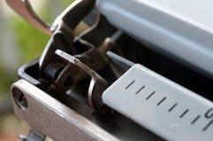 Primo piano della macchina da scrivere Fotografia Stock