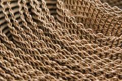 Primo piano della maglia metallica Maglia dell'acciaio inossidabile Griglia con una piccola cellula fotografia stock libera da diritti
