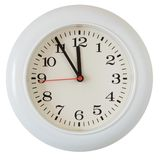 Primo piano della manopola di orologio della parete Fotografia Stock Libera da Diritti
