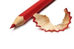 Primo piano della matita affilato rosso fotografia stock libera da diritti