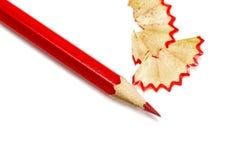 Primo piano della matita affilato rosso immagini stock libere da diritti