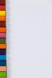 Primo piano della matita colorata in una fila Fotografie Stock