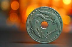 Primo piano della moneta fotografia stock