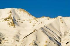 Primo piano della montagna di Timpanogos del supporto immagini stock