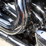 Primo piano della motocicletta immagine stock libera da diritti