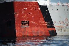 Primo piano della nave da carico Fotografia Stock