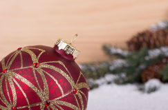 Primo piano della palla di Natale Fotografia Stock Libera da Diritti