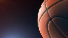 Primo piano della palla di pallacanestro Fotografia Stock Libera da Diritti