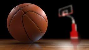 Primo piano della palla di pallacanestro Fotografia Stock
