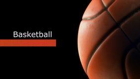 Primo piano della palla di pallacanestro Fotografie Stock Libere da Diritti