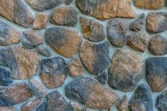 Primo piano della parete della roccia Fotografia Stock
