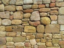 Primo piano della parete di pietra Fotografie Stock