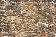 Primo piano della parete di pietra Struttura immagini stock libere da diritti
