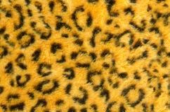 Modello del fondo della pelliccia del gatto di leopardo Immagini Stock Libere da Diritti