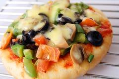 Primo piano della pizza Immagini Stock
