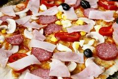 Primo piano della pizza Fotografia Stock Libera da Diritti