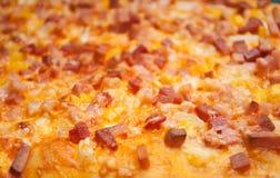 Primo piano della pizza delle guarnizioni Fotografia Stock