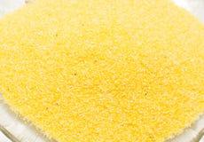 Primo piano della polenta su un piatto Fotografie Stock