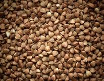 Primo piano della priorità bassa di struttura del grano saraceno. Fotografie Stock