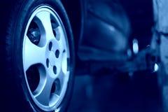 Primo piano della rotella di automobile Fotografie Stock