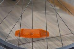 Primo piano della rotella di bicicletta fotografia stock