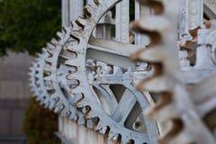 Primo piano della ruota del dente Fotografia Stock