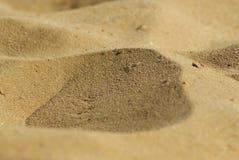 Primo piano della sabbia Fotografia Stock