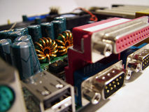 Primo piano della scheda del calcolatore Fotografia Stock Libera da Diritti