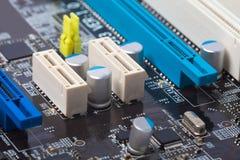 Primo piano della scheda madre del computer Immagine Stock