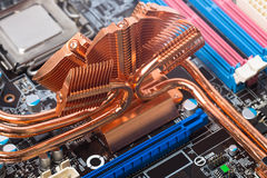 Primo piano della scheda madre del computer Immagine Stock Libera da Diritti
