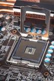 Primo piano della scheda madre del computer Fotografia Stock Libera da Diritti