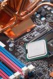 Primo piano della scheda madre del computer Fotografie Stock
