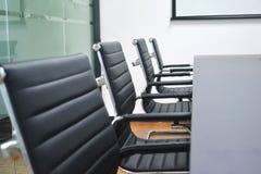 Primo piano della sedia dell'ufficio Fotografie Stock