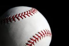 Primo piano della sfera di baseball Fotografie Stock Libere da Diritti