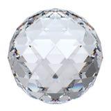 Primo piano della sfera di cristallo con la riflessione Immagine Stock Libera da Diritti