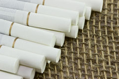 Primo piano della sigaretta fotografia stock