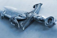 Primo piano della spada fotografie stock libere da diritti