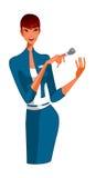 Primo piano della spazzola della holding della donna royalty illustrazione gratis