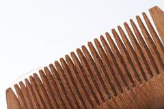 Primo piano della spazzola di legno Immagine Stock