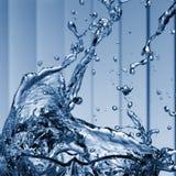 Primo piano della spruzzata dell'acqua Immagine Stock Libera da Diritti