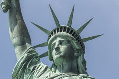 Primo piano della statua della libertà Fotografia Stock Libera da Diritti