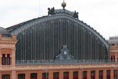Primo piano della stazione centrale a Madrid fotografie stock libere da diritti